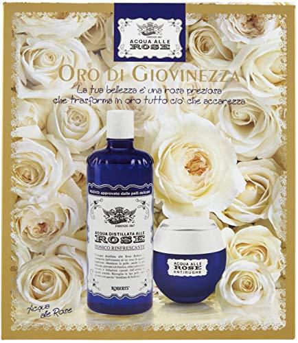 Acqua alle Rose, Cofanetto con Tonico e Crema Antirughe Rassodante Con Olio Di Argan - 350 ml
