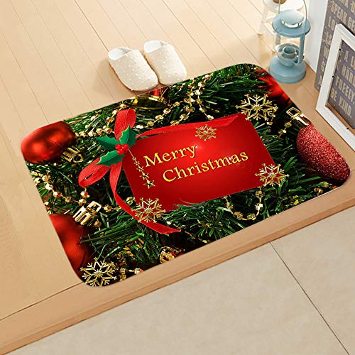 Welcome Doormats Used by Every Household on Thanksgiving and Christmas, and a Variety of Colorful Holiday Carpet Decorations for Your Choice, Size:15.7x23.6 inch (D)