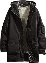 YIHANK Herren Herbst Winter Outwear Mittellange Kapuze Verdickt Mehrfach Mantel Werkzeugmantel Oversize Jacke