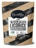 Darrell Lea Black Soft Australian Made Licorice 7oz Bag - NON-GMO, Palm Oil Free, NO HFCS, Vegetarian & Kosher - America's #1 Soft Eating Licorice Brand!