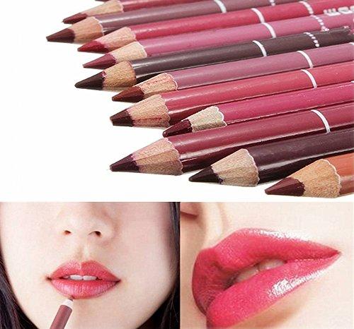 Hosaire 12x Professionelle Damen Lipliner wasserdichte Lipliner 12 Farben Make up Lippenstift...