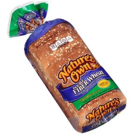 Nature's Own Double Fiber Wheat Bread 20 Oz (Pack of 2)