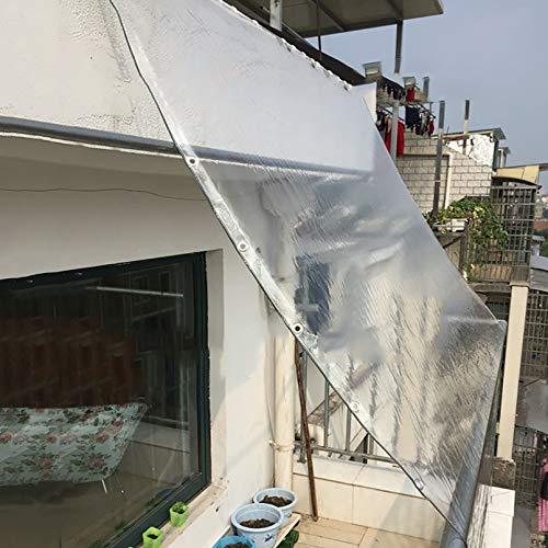 Lona Transparente, Lona de plástico de PVC Impermeable con Ojales, Resistencia al desgarro Ojal de Metal Antióxido Distancia del Orificio 50cm