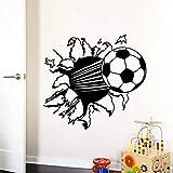 Tianpengyuanshuai Fútbol extraíble Vinilo Papel Tapiz hogar Arte Pared calcomanía decoración 44X55cm