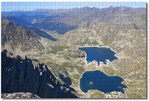 Puzzle- Andorra Tristaina Lake Arinsal Rompecabezas para Adultos Niños 1000 Piezas Juego de Rompecabezas de Madera para Regalos Decoración del hogar