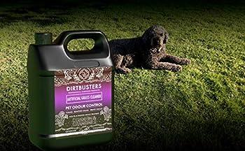 Dirtbusters Nettoyant pour Gazon Artificiel géranium et Camomille avec désodorisant réactivant pour Animaux domestiques et Chat 2 x 5 litres