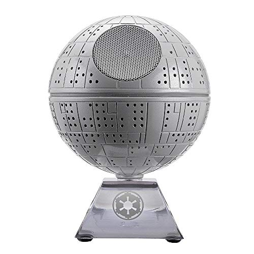 ICONIC STAR WARS DEATH STAR - Star Wars Death Star design shows off your signature style. Also includes auxiliary input LIGHTS UP WHEN PLAYING MUSIC - Speaker lights up when playing music WIRELESS BLUETOOTH CONNECTIVITY - Wireless design lets you con...