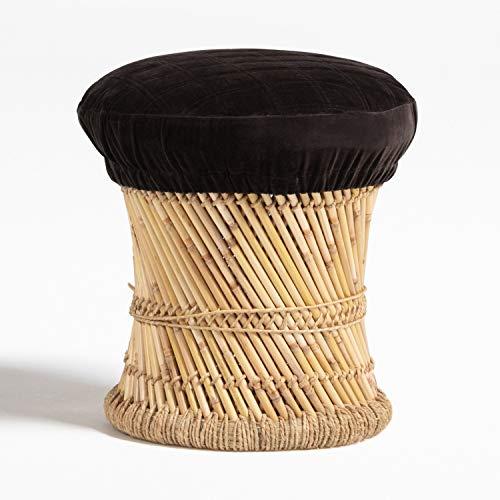 SKLUM Taburete Thëss Bambú Velvet Marrón Chocolate - (Elige Color)