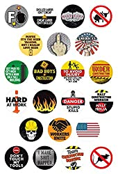LOT OF 3 STICKER HARD HAT STICKER LAPTOP DECAL LABORERS HAVE BIG STRONG TOOLS