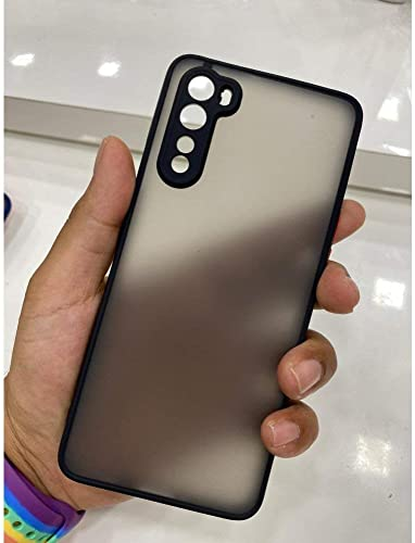 Trendy Fashion Choice Smoke Silicone Matte Oneplus Nord Back Cover Black