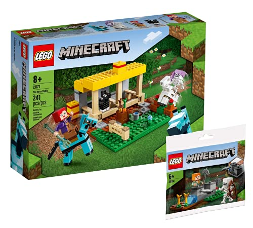 Collectix Lego Set Minecraft 21171 - Establo para caballos y defensa de los esqueletos Minecraft 30394