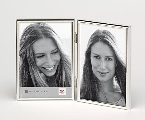 Walther design WD215S Chloe Portraitrahmen 2X 10x15 cm, silber