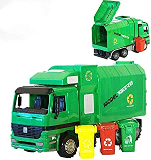 Car model automatic lifting garbage truck model toy early education educational toys for children