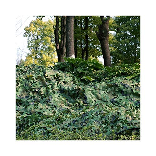 KXBYMX Parasoleil, parasol respirant jungle camouflage camouflage net décoration extérieure anti-aérienne protection net Écran solaire plante de fleur de jardin (Couleur : Green, taille : 4x6m)