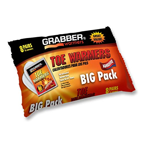 Grabber Hand Warmers – Natural Odorless Air Activated Warmers – 8 Hours of Heat – 8 Pairs