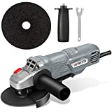 NETTA Angle Grinder | 710W | 115mm Wheel Diameter | Side Handle and Paddle Safety Switch | Spanner for Disc Attachment | 2M Power Cable | 230V 50Hz | Ideal for DIY