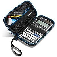 Supremery para Casio FX-991DE X - Plus/Texas Instruments calculadoras de Protección de la Cubierta del Caso - Negro/Azul