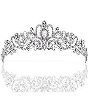 ZWOOS Wedding Tiara, Nuziale Diadema con Cristalli Strasscon Pettine per La Cerimonia Nuziale, Proms, spettacoli, Principessa Feste, Compleanno
