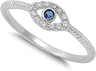 eye ring silver