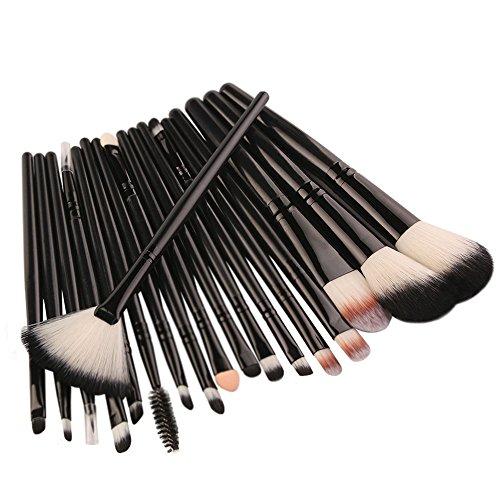 18 Pinceaux De Maquillage Noirs Rawdah 18 pcs Makeup Brush Set tools Make-up Toiletry Kit Wool Make Up Brush Set BK