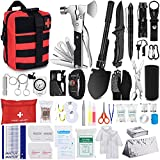 NAPASA Survival Kit 232 pcs Professional Survival Gear Emergency Tactical First Aid Kit Outdoor Trauma Bag for Men Women Adventure Camping Hiking Hunting