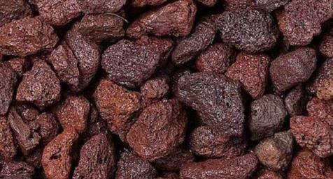 WUEFFE Lapillo vulcanico Rosso 10/18 mm. - Sacchi da 33 lt. - pacciamatura Lapilli Giardino (4 Sacchi da lt.33)