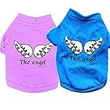 Chemises De Chien T-shirt en tissu pour chien Chiot chien chat gilet costume pour chien vêtements femme mâle pour Petit chien moyen -2pc