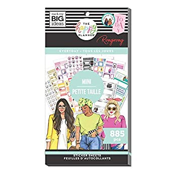 The Happy Planner Mini Value Pack Sticker Sheets - Scrapbooking Supplies - Everyday Theme - Multicolor - Great for Journals Scrapbooks & Albums - 885 Stickers