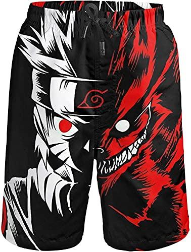 Bañador para hombre Anime Naruto (Naruto2, S)