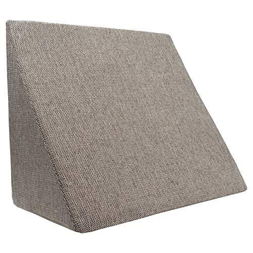 Cuscino posizionatore XL per soggiorno e camera da letto, cuscino da lettura, schienale flessibile, cuscini per la gravidanza, cuscini per l'allattamento (abbronzatura)