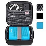 BOVKE para Soundlink Color II/UE ROLL 360 Alto-falante sem fio rígido EVA Estojo de transporte à prova de choque para armazenamento Bolsa de viagem Bolsa de proteção, preta