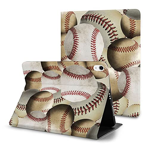 Sports Baseball Case for iPad Air 4th Generation Case with Pencil Holder Cute Stand Smart Leather Case Auto Wake/Sleep