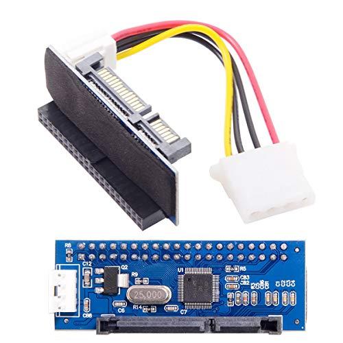IDE/PATA - Adaptador convertidor de disco de 40 pines a SATA hembra para ordenador de sobremesa y disco duro de 3,5 pulgadas