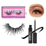 Glamnetic Lash and Liner Bundle - Vixen | Vegan Magnetic Eyelashes, Medium Wispy Faux Mink Lashes, Natural Look, Reusable up to 40 times