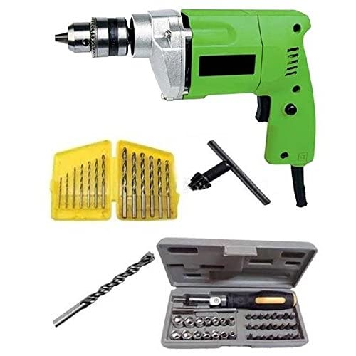Generic 10Mm Drill Machine With Bits & 41Pcs Toolkit Color and Design May Vary