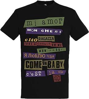Rammstein Herren T-Shirt Ausländer Offizielles Band Merchandise Fan Shirt schwarz mit mehrfarbigem Front und Back Print