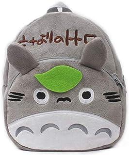 Mini mochila escolar de peluche TOTORO. Perfecta para llevar el desayuno, merienda, lápices o cualquier otra cosa. Tamaño: 26 x 21 x 9 cm.