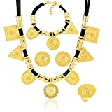 Ethiopian Jewelry Gold Color Rope Sets for African /Ethiopia /Eritrean Women Wedding Jewelry Sets