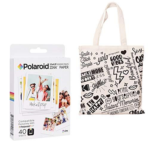 Polaroid 3,5 x 4,25 Zoll Premium ZINK Papier Taschen-Bundle