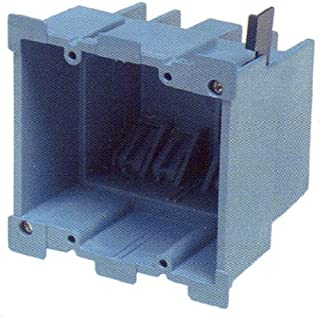 Carlon BH234R Outlet Box, Old Work, 2 Gang, 3-7/8-Inch Length by 2-3/8-Inch Width by 3-5/8-Inch Depth, Blue