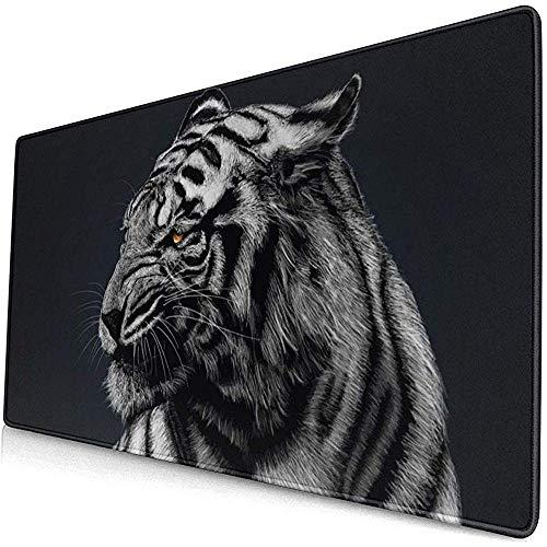 muismat muismat anti-slip rubber duurzaam zwart en wit gestreept tijger behang