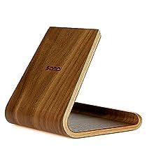 SAMDi iPadスタンド 木製 ダークブラウン SMD-TS-BLK