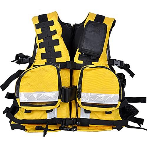 CYzpf Chaleco Salvavidas Adulto Multifunción Flotación Portátil Ayuda de la Nadada Vest Flotabilidad Equipamiento para Deportes Acuáticos Kayak Canotaje Snorkel,M