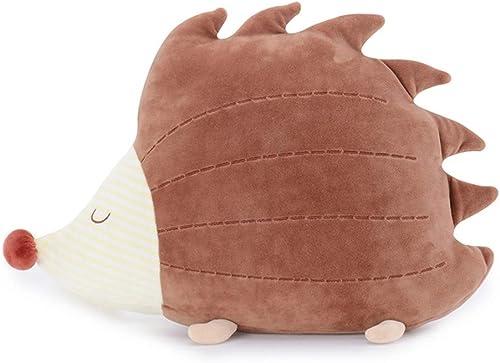 PANGDUDU Cartoon Hündchen Niedlich Schlafkissen Krokodil Plüschtier Bunny Puppe Kind Puppe Geburtstagsgeschenk Weißlich, Igel, 47  32  14 cm
