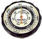 エバートラスト 高度計 アナログ 気圧計 天気センサー 付き ブラック NO610