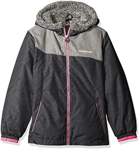 ZeroXposur Girls' Big Miranda Transitional Jacket, Dark Heather, S-7/8