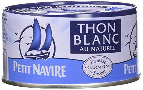 Petit Navire Thon Blanc au Naturel 190 g - Lot de 8