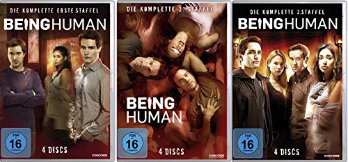 Being Human - Die kompletten Staffeln 1 - 3 im Set - Deutsche Originalware [12 DVDs]