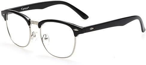 Cyxus Blue Light UV Blocking Computer Glasses Women Men, Anti Eye Strain Eyewear (M, 8056T01,Black)