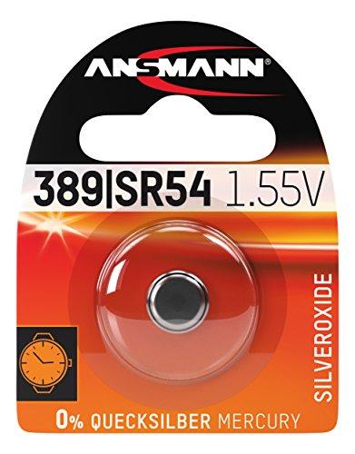 ANSMANN 1516-0015 silberoxid Knopfzelle SR 54/389/390 für Garagentoröffner, Alarmanlage, Funkauslöser silber